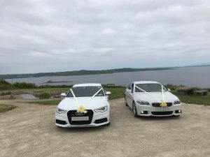 Audi-A5-and-BMW-in-white-donegal-coach-hire-chauffeur-drive